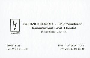 Visitenkarte Siegfried Lattka