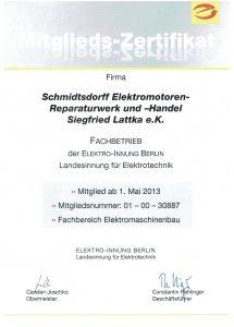 Fachbetrieb der Elektro-Innung Berlin