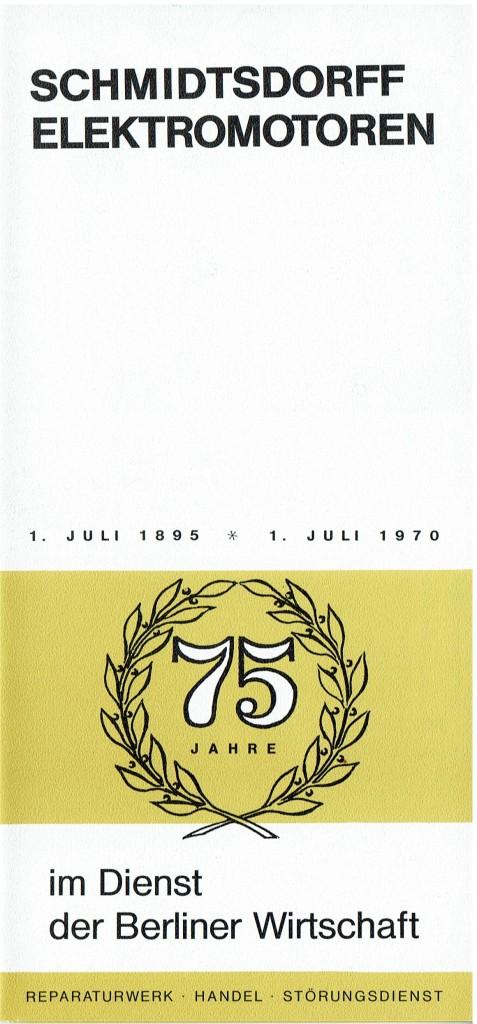 Flyer 75 Jahre